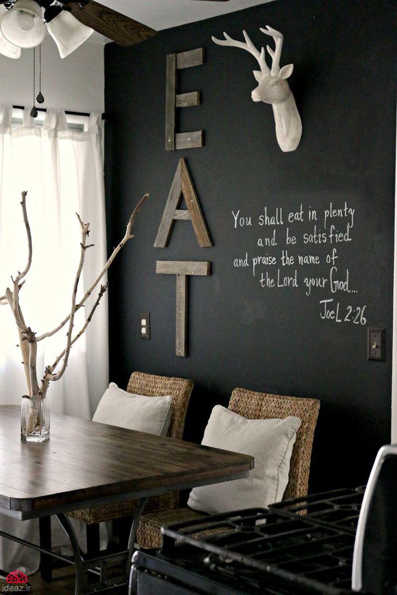 آیدیاز - خلاقیت دیواری با تخته سیاه