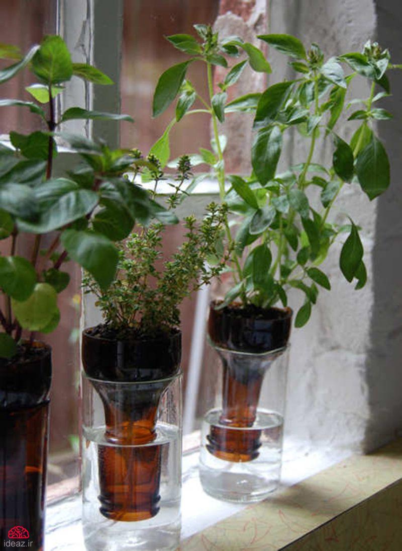 آیدیاز - گلدان خودآبخوار بسازید (کاردستی)