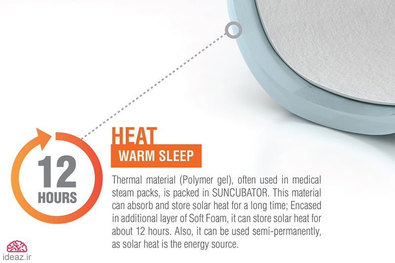 آیدیاز - تختخواب گرم و نرم نوزاد