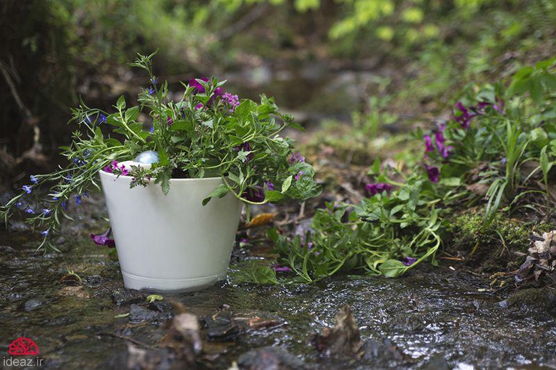 آیدیاز - گلدان خودآبیار هوشمند