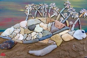 تابلوهای خلاقانه با سنگهای کنار دریا (کاردستی – DIY)