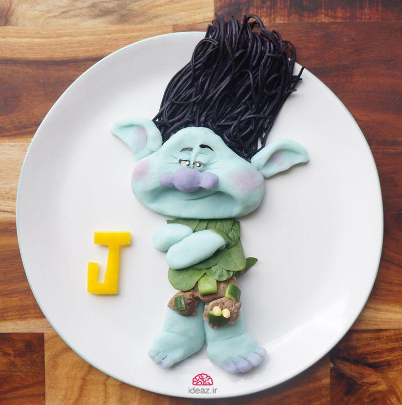 آیدیاز - شخصیتهای کارتونی در بشقاب غذا