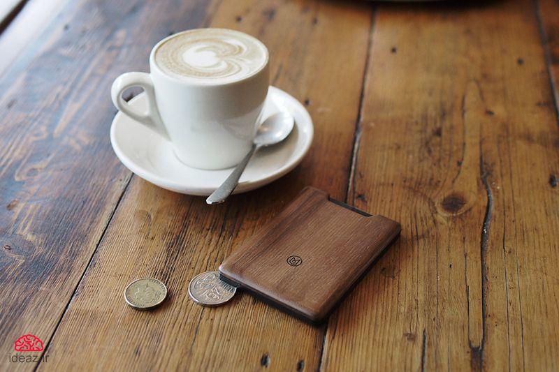 کیف پول چوبی