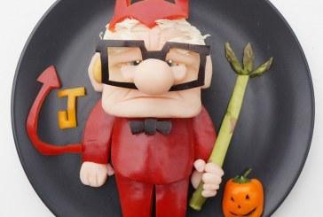 شخصیتهای کارتونی در بشقاب غذا