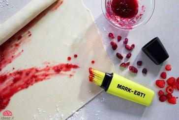 با مارکر، غذاها را رنگ آمیزی کنید